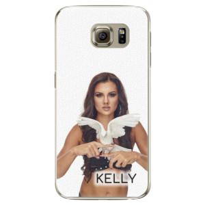 Plastové pouzdro iSaprio - Kelly s hrdličkou na mobil Samsung Galaxy S6 + podepsaná karta s Kelly