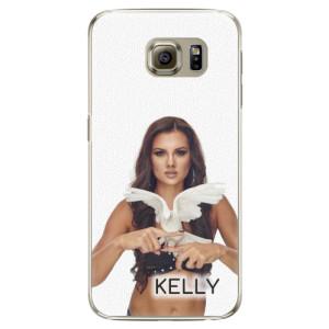 Plastové pouzdro iSaprio - Kelly s hrdličkou na mobil Samsung Galaxy S6 Edge + podepsaná karta s Kelly