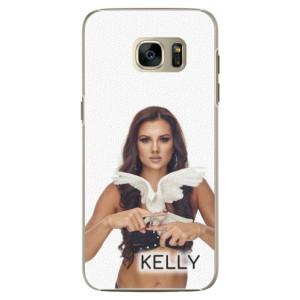 Plastové pouzdro iSaprio - Kelly s hrdličkou na mobil Samsung Galaxy S7 + podepsaná karta s Kelly