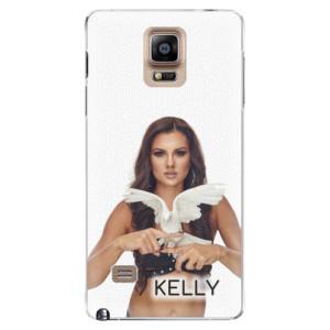 Plastové pouzdro iSaprio - Kelly s hrdličkou na mobil Samsung Galaxy Note 4 + podepsaná karta s Kelly