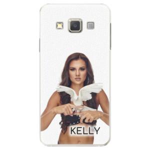 Plastové pouzdro iSaprio - Kelly s hrdličkou na mobil Samsung Galaxy A3 + podepsaná karta s Kelly