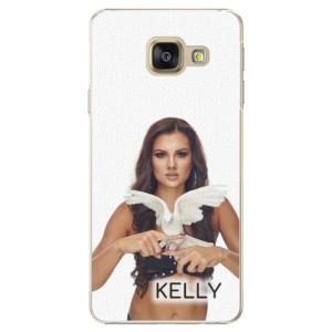 Plastové pouzdro iSaprio - Kelly s hrdličkou na mobil Samsung Galaxy A3 2016 + podepsaná karta s Kelly