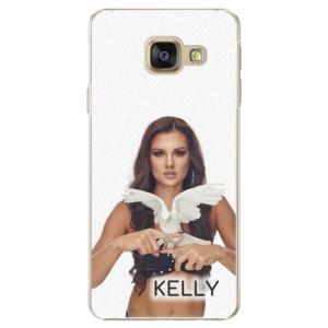 Plastové pouzdro iSaprio - Kelly s hrdličkou na mobil Samsung Galaxy A5 2016 + podepsaná karta s Kelly
