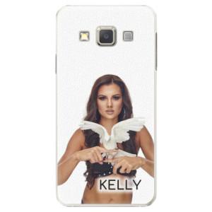 Plastové pouzdro iSaprio - Kelly s hrdličkou na mobil Samsung Galaxy A7 + podepsaná karta s Kelly