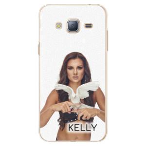 Plastové pouzdro iSaprio - Kelly s hrdličkou na mobil Samsung Galaxy J3 2016 + podepsaná karta s Kelly