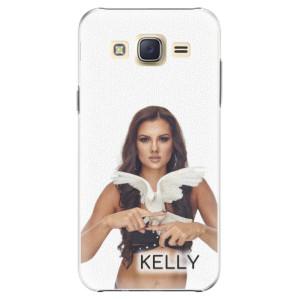 Plastové pouzdro iSaprio - Kelly s hrdličkou na mobil Samsung Galaxy J5 + podepsaná karta s Kelly
