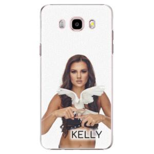 Plastové pouzdro iSaprio - Kelly s hrdličkou na mobil Samsung Galaxy J5 2016 + podepsaná karta s Kelly