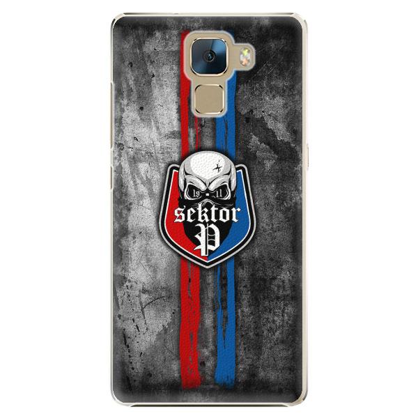 Plastový kryt - FCVP - Lebka na mobil Honor 7