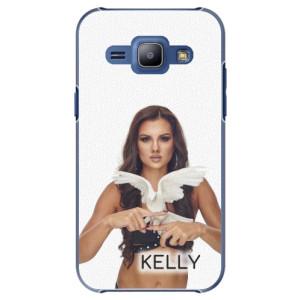 Plastové pouzdro iSaprio - Kelly s hrdličkou na mobil Samsung Galaxy J1 + podepsaná karta s Kelly