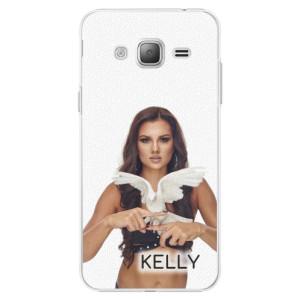 Plastové pouzdro iSaprio - Kelly s hrdličkou na mobil Samsung Galaxy J3 + podepsaná karta s Kelly