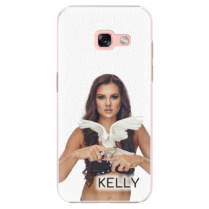 Plastové pouzdro iSaprio - Kelly s hrdličkou na mobil Samsung Galaxy A3 2017 + podepsaná karta s Kelly
