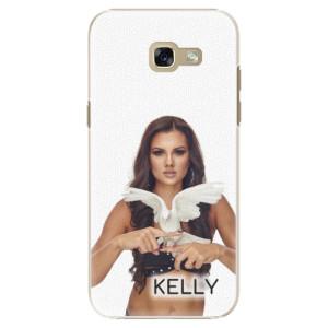 Plastové pouzdro iSaprio - Kelly s hrdličkou na mobil Samsung Galaxy A5 2017 + podepsaná karta s Kelly