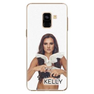Plastové pouzdro iSaprio - Kelly s hrdličkou na mobil Samsung Galaxy A8 2018 + podepsaná karta s Kelly