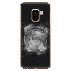 Plastový kryt - Škodovácí - Dark logo na mobil Samsung Galaxy A8 2018