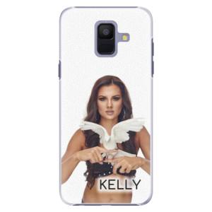 Plastové pouzdro iSaprio - Kelly s hrdličkou na mobil Samsung Galaxy A6 + podepsaná karta s Kelly