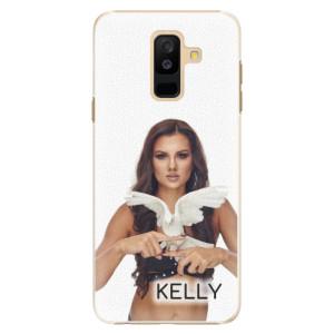 Plastové pouzdro iSaprio - Kelly s hrdličkou na mobil Samsung Galaxy A6 Plus + podepsaná karta s Kelly
