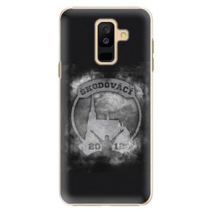 Plastový kryt - Škodovácí - Dark logo na mobil Samsung Galaxy A6 Plus