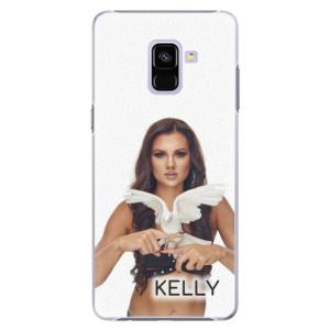 Plastové pouzdro iSaprio - Kelly s hrdličkou na mobil Samsung Galaxy A8 Plus + podepsaná karta s Kelly