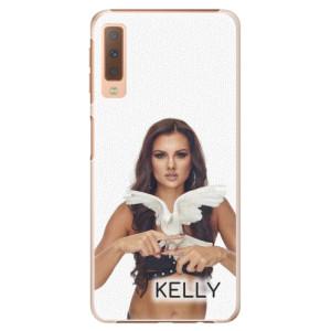 Plastové pouzdro iSaprio - Kelly s hrdličkou na mobil Samsung Galaxy A7 (2018) + podepsaná karta s Kelly