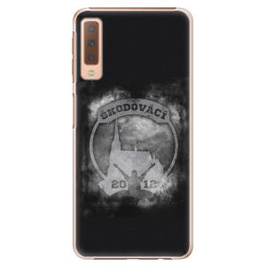 Plastový kryt - Škodovácí - Dark logo na mobil Samsung Galaxy A7 (2018)