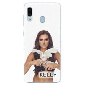 Plastové pouzdro iSaprio - Kelly s hrdličkou na mobil Samsung Galaxy A30 + podepsaná karta s Kelly