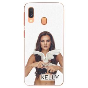 Plastové pouzdro iSaprio - Kelly s hrdličkou na mobil Samsung Galaxy A40 + podepsaná karta s Kelly