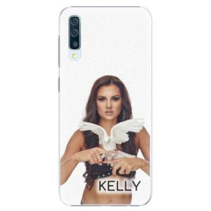 Plastové pouzdro iSaprio - Kelly s hrdličkou na mobil Samsung Galaxy A50 + podepsaná karta s Kelly