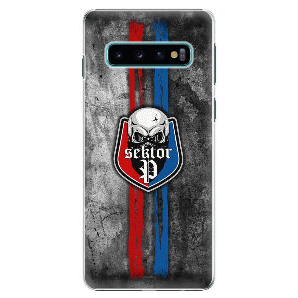 Plastový kryt - FCVP - Lebka na mobil Samsung Galaxy S10