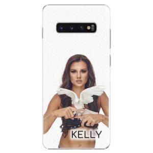 Plastové pouzdro iSaprio - Kelly s hrdličkou na mobil Samsung Galaxy S10 Plus + podepsaná karta s Kelly