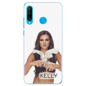 Plastové pouzdro iSaprio - Kelly s hrdličkou na mobil Huawei P30 Lite + podepsaná karta s Kelly