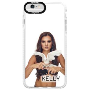 Silikonové pouzdro Bumper iSaprio - Kelly s hrdličkou na mobil Apple iPhone 6 / 6S + podepsaná karta s Kelly