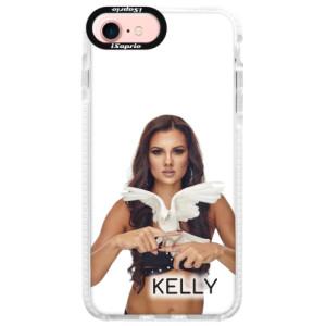 Silikonové pouzdro Bumper iSaprio - Kelly s hrdličkou na mobil Apple iPhone 7 + podepsaná karta s Kelly