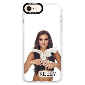 Silikonové pouzdro Bumper iSaprio - Kelly s hrdličkou na mobil Apple iPhone 8 + podepsaná karta s Kelly