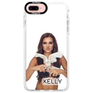 Silikonové pouzdro Bumper iSaprio - Kelly s hrdličkou na mobil Apple iPhone 7 Plus + podepsaná karta s Kelly