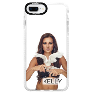 Silikonové pouzdro Bumper iSaprio - Kelly s hrdličkou na mobil Apple iPhone 8 Plus + podepsaná karta s Kelly