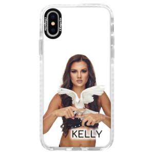 Silikonové pouzdro Bumper iSaprio - Kelly s hrdličkou na mobil Apple iPhone X + podepsaná karta s Kelly