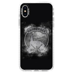 Odolné silikonové pouzdro Bumper - Škodovácí - Dark logo na mobil Apple iPhone X