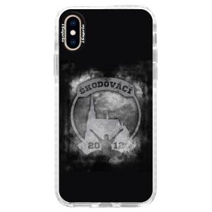 Odolné silikonové pouzdro Bumper - Škodovácí - Dark logo na mobil Apple iPhone XS