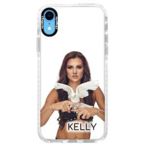 Silikonové pouzdro Bumper iSaprio - Kelly s hrdličkou na mobil Apple iPhone XR + podepsaná karta s Kelly