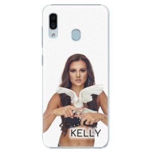 Plastové pouzdro iSaprio - Kelly s hrdličkou na mobil Samsung Galaxy A20 + podepsaná karta s Kelly