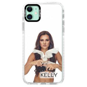 Silikonové pouzdro Bumper iSaprio - Kelly s hrdličkou na mobil Apple iPhone 11 + podepsaná karta s Kelly