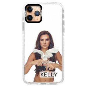 Silikonové pouzdro Bumper iSaprio - Kelly s hrdličkou na mobil Apple iPhone 11 Pro + podepsaná karta s Kelly
