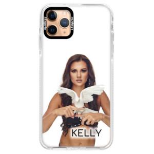 Silikonové pouzdro Bumper iSaprio - Kelly s hrdličkou na mobil Apple iPhone 11 Pro Max + podepsaná karta s Kelly