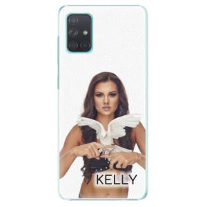 Plastové pouzdro iSaprio - Kelly s hrdličkou na mobil Samsung Galaxy A71 + podepsaná karta s Kelly