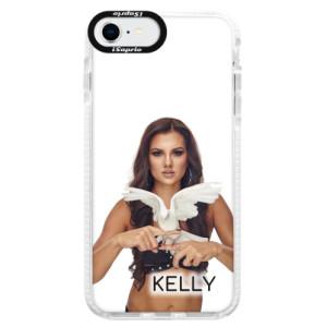Silikonové pouzdro Bumper iSaprio - Kelly s hrdličkou na mobil Apple iPhone SE 2020 + podepsaná karta s Kelly