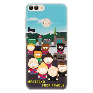 Silikonový obal iSaprio - Městečko Fuck Prague - na mobil Huawei P Smart