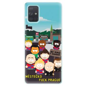 Silikonový obal iSaprio - Městečko Fuck Prague - na mobil Samsung Galaxy A71