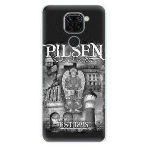 Silikonový kryt iSaprio - Pilsen Beer City na mobil Xiaomi Redmi Note 9