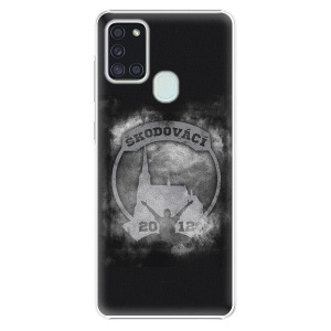 Plastový kryt - Škodovácí - Dark logo na mobil Samsung Galaxy A21s