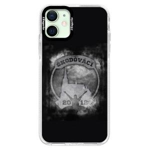 Odolné silikonové pouzdro Bumper - Škodovácí - Dark logo na mobil Apple iPhone 12